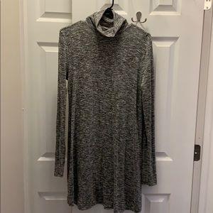 Tunic turtleneck dress